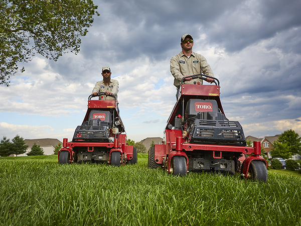 Hillside aerate and seed equipment
